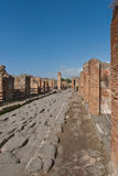 Ruins at Pompeii, Italy. A photo of a portion of the ruins at the ancient city of Pompeii. The city was destroyed by the eruption of the volcano, Mount Vesuvius Stock Photography