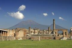 Ruins at Pompeii, Italy royalty free stock photo