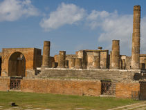 Ruins at Pompeii, Italy. A photo of a portion of the ruins at the ancient city of Pompeii. The city was destroyed by the eruption of the volcano, Mount Vesuvius Stock Images