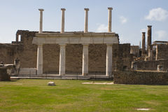 Ruins at Pompeii, Italy. A photo of a portion of the ruins at the ancient city of Pompeii. The city was destroyed by the eruption of the volcano, Mount Vesuvius Royalty Free Stock Image
