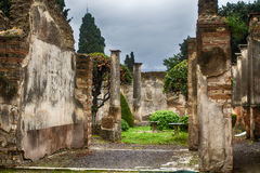 Ruins of Pompeii Italy Stock Images