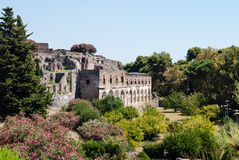 Ruins of Pompeii, Italy. Pompeii is an ancient Roman city died f Royalty Free Stock Photography