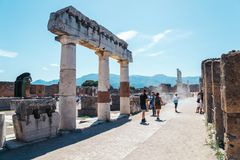 Ruins of Pompeii in Italy Royalty Free Stock Images