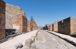 The ruins of Pompeii, Italy Royalty Free Stock Photos