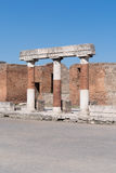 The ruins of Pompeii, Italy Royalty Free Stock Image