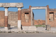 The ruins of Pompeii, Italy Stock Image