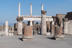 The ruins of Pompeii, Italy Royalty Free Stock Photos