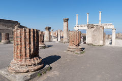 The ruins of Pompeii, Italy Stock Images