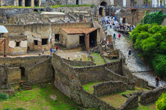 Ruins of Pompeii in Naples, Italy Royalty Free Stock Photo