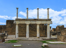 Ruins of Pompeii in Naples, Italy Stock Photography