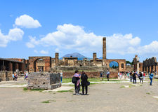 Ruins of Pompeii in Naples, Italy Stock Photo
