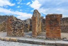Ruins of Pompeii in Naples, Italy Stock Image