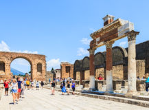 Ruins of Pompeii in Naples, Italy Royalty Free Stock Image