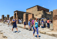 Ruins of Pompeii in Naples, Italy Royalty Free Stock Photography