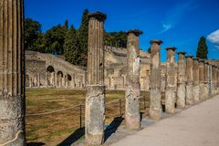 Ruins of Pompeii - Naples Province,Campania, Italy. Ruins of Pompeii - Pompei, Province of Naples, Campania, Italy, Europe stock image