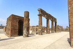 Ruins at Pompeii, near Naples, Italy royalty free stock images