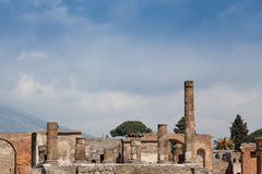 Ruins in Pompeii Royalty Free Stock Images