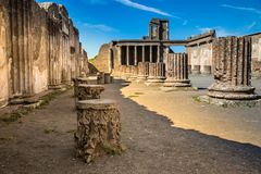 Ruins of Pompeii - Naples Province,Campania, Italy. Ruins of Pompeii - Pompei, Province of Naples, Campania, Italy, Europe royalty free stock photo