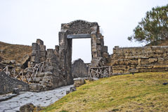 Ruins in pompeii (portals), Royalty Free Stock Images