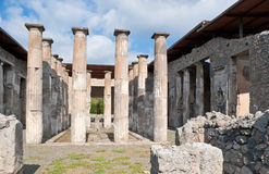 The ruins of Pompeii temple Stock Photos