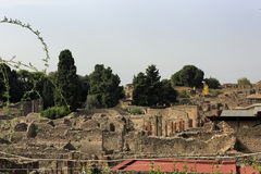 The ruins of Pompeii. A view from above of Pompeii Stock Image