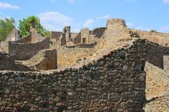 Ruins in Pompeii Royalty Free Stock Photography
