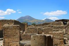 Ruins in Pompeii Stock Photo