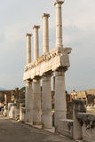 Ruins of Pompeii. Pompeii was an ancient Roman town-city near modern Naples, in the Campania region of Italy, in the territory of the comune of Pompei. Pompeii Royalty Free Stock Image