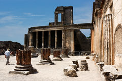 Ruins of Pompey. After eruption of a volcano of Vesuvius Stock Images