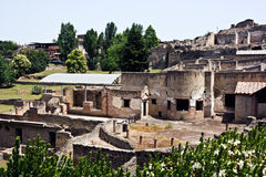 Ruins of Pompey. After eruption of a volcano of Vesuvius Royalty Free Stock Photos