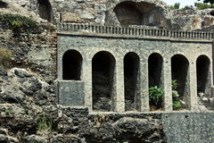 Ruins of Pompey. After eruption of a volcano of Vesuvius Royalty Free Stock Image