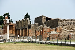 Ruins of Pompey. After eruption of a volcano of Vesuvius Royalty Free Stock Images