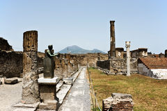 Ruins of Pompey. After eruption of a volcano of Vesuvius Stock Photo