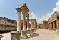 Ruins at Pompey, Italy Royalty Free Stock Photos