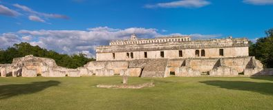 Palace of the Masks in Kabah, Yucatan, Mexico. Ruins of Poop palace Palace of the Masks in Kabah, Yucatan, Mexico Royalty Free Stock Images
