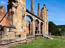 Ruins of Port Arthur Tasmania. Former penal colony Stock Images