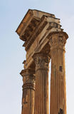 Ruins of a portico of an ancient Roman temple Stock Photography