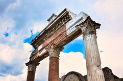 Ruins of the portico Royalty Free Stock Image