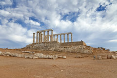 Ruins of Poseidon temple Royalty Free Stock Image