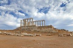 Ruins of Poseidon temple. Cape Sounion, Greece Royalty Free Stock Image