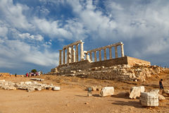 Ruins of Poseidon temple Royalty Free Stock Photo