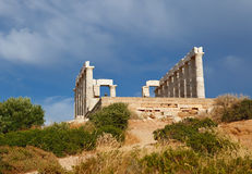 Ruins of Poseidon temple. Cape Sounion, Greece Stock Photos