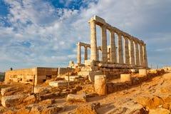 Ruins of Poseidon temple. Greece Stock Photos