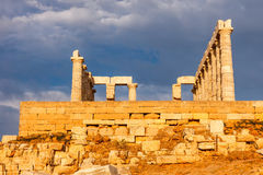 Ruins of Poseidon temple Stock Image