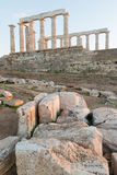 Ruins of Poseidon temple Royalty Free Stock Photos