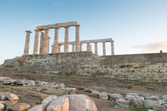 Ruins of Poseidon temple Stock Photography