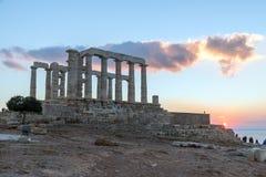 Ruins of Poseidon temple Stock Photos