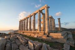 Ruins of Poseidon temple Royalty Free Stock Photo