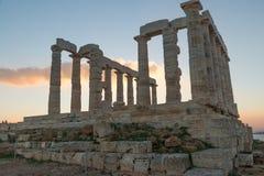 Ruins of Poseidon temple Stock Image