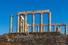 Ruins of Poseidon Temple, Greece Royalty Free Stock Photography